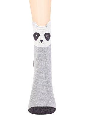 Resim Cute Bear Soket Çorap - GRİ