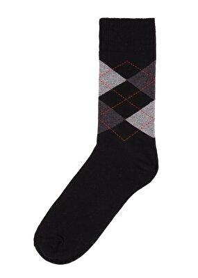 Resim Erkek Oxford Soket Çorap - SİYAH