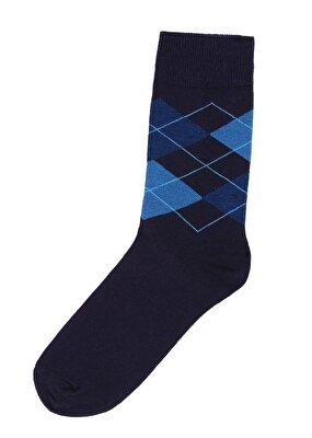 Resim Erkek Oxford Soket Çorap - KOYU MAVİ