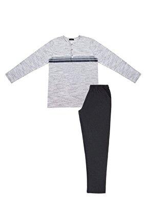 Resim Robert Pijama Takımı - GRİLİ