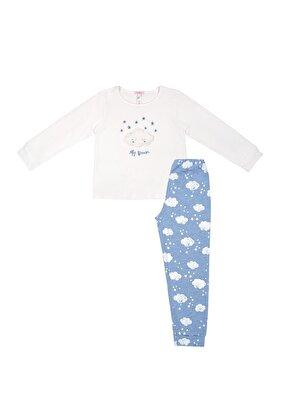 Resim Bella Çocuk Spor Pijama Takımı - BULUT DESENLİ