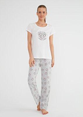 Resim Bella Pijama Takımı - PİZZA DESENLİ