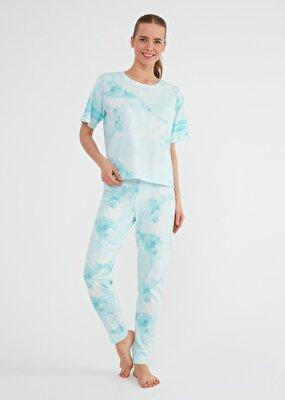 Resim Batik Pijama Takımı - MINT
