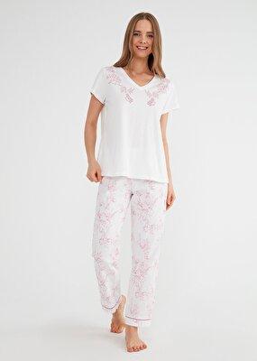 Resim Laila Pijama Takımı - PEMBE