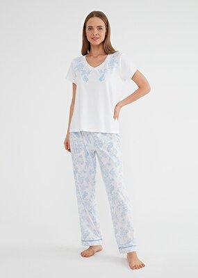 Resim Laila Pijama Takımı - LEYLAK