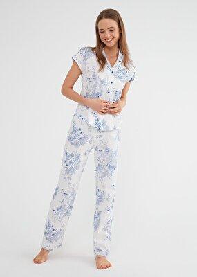 Resim Alice Maskulen Pijama Takımı - MAVİ