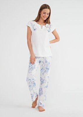 Resim Alice Pijama Takımı - MAVİ
