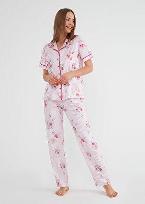 Resim Martina Maskulen Pijama Takımı - PEMBE