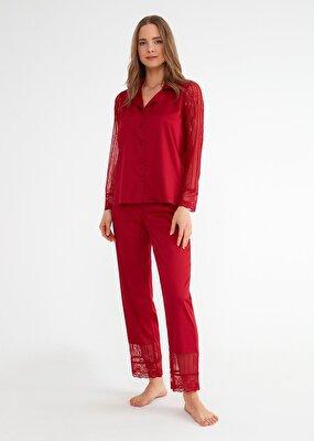 Resim Pansy Maskulen Pijama Takımı - BORDO