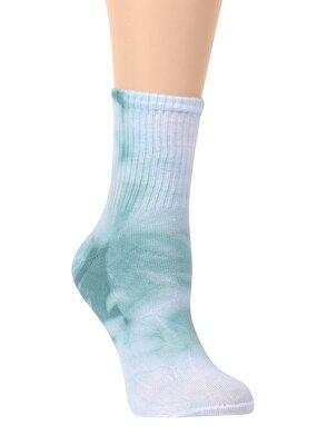 Resim Tie Dye Soket Çorap - SU YEŞİLİ