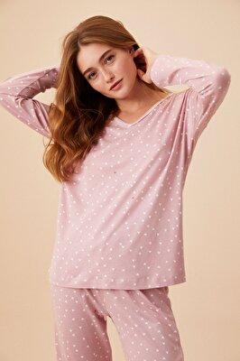 Resim Heart Pijama Takımı - PEMBE