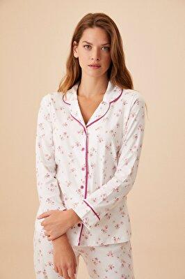 Resim Young Mother Maskulen Pijama Takımı - PEMBE