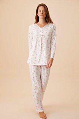 Resim Young Mother Hamile Lohusa Pijama Takımı - PEMBE