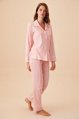 Resim Rosa Maskulen Pijama Takımı - PEMBE